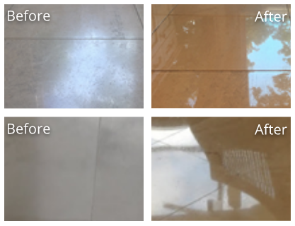 Travertine Before and After